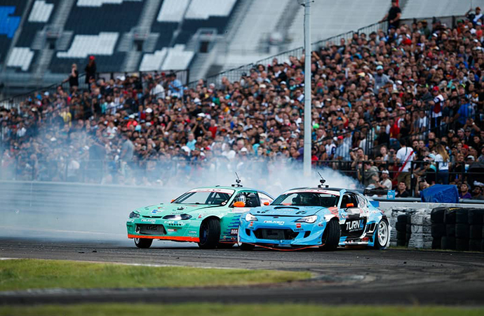 Packed-in crowds are regular sights at FD events. | Formula Drift photo/Larry Crane