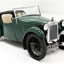 Miniature classic 1933 Austin 7 roadster from Great Britain