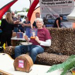2019 Spring Autojumble Edd China with his book on Casual Loafer
