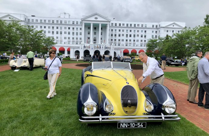 One-off Darracq/Talbot Lago is Best of Show at Greenbrier