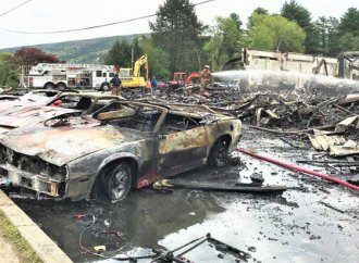 Fires destroy collector vehicles in three locations