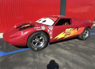 1967 Ford GT40 clone dressed up as a cartoon character