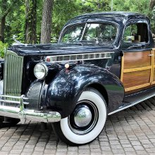 Custom 1940 Packard woody pickup loaded with vintage style
