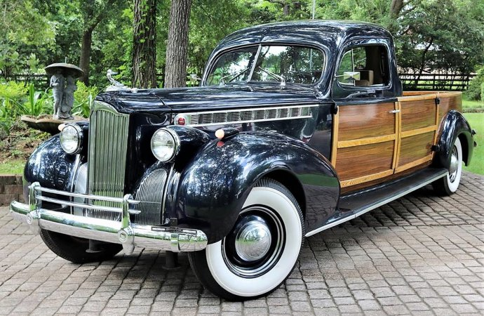 Custom 1940 Packard woody pickup loaded with vintage style