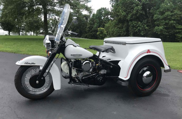 Three-wheeled Harley goes from police duty to hauling beverages