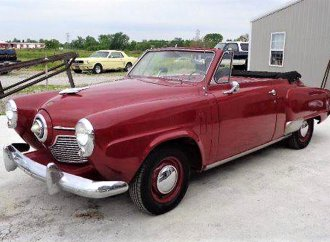 Bullet-nose droptop 1951 Studebaker Champion convertible