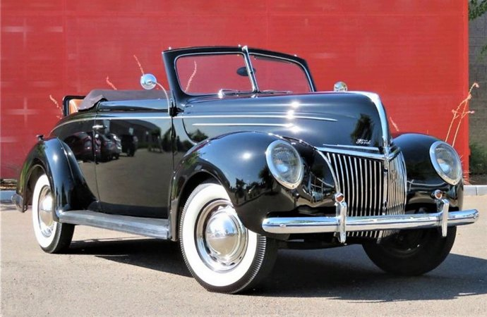 Looking fine at 80, 1939 Ford Deluxe convertible in stock trim