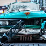 Classic car damaged