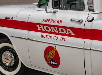 Why did American Honda restore a 1961 Chevrolet pickup truck?