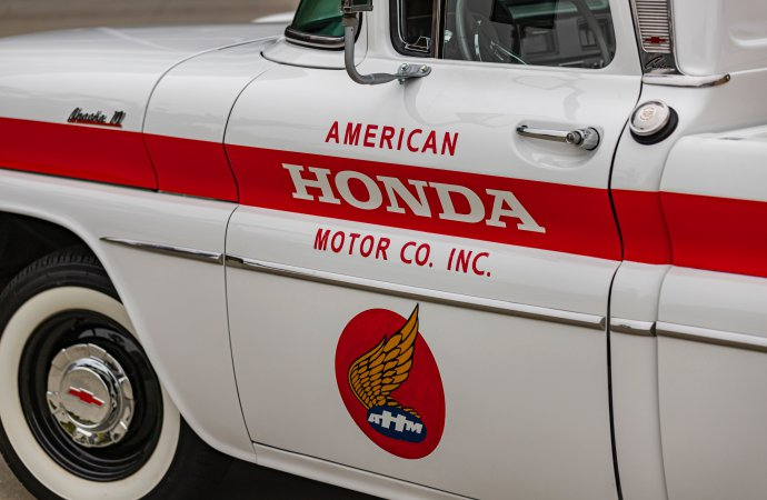 Why did American Honda restore a 1961 Chevrolet pickup truck?