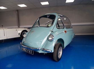 1960 bubble car goes from wood-lined crate to auction block