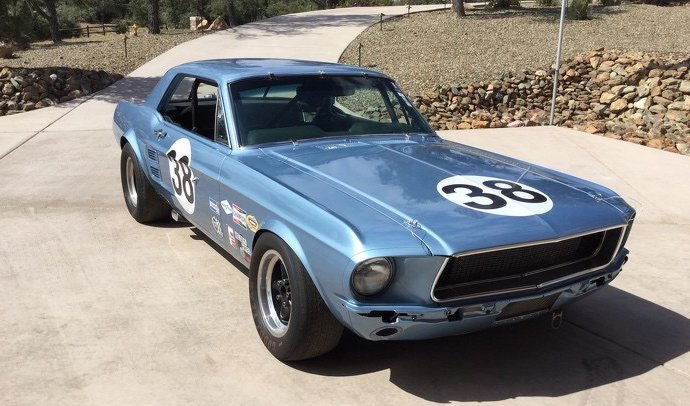 Notchback '67 Mustang race car on Russo and Steele docket