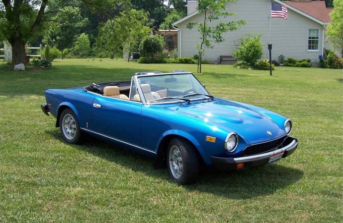 1980 Fiat 2000 Spider offered with many updated parts