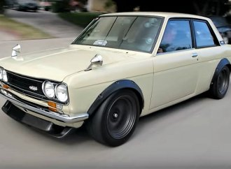 Performance-tuned 1970 Datsun 510 arrives at Jay Leno's Garage