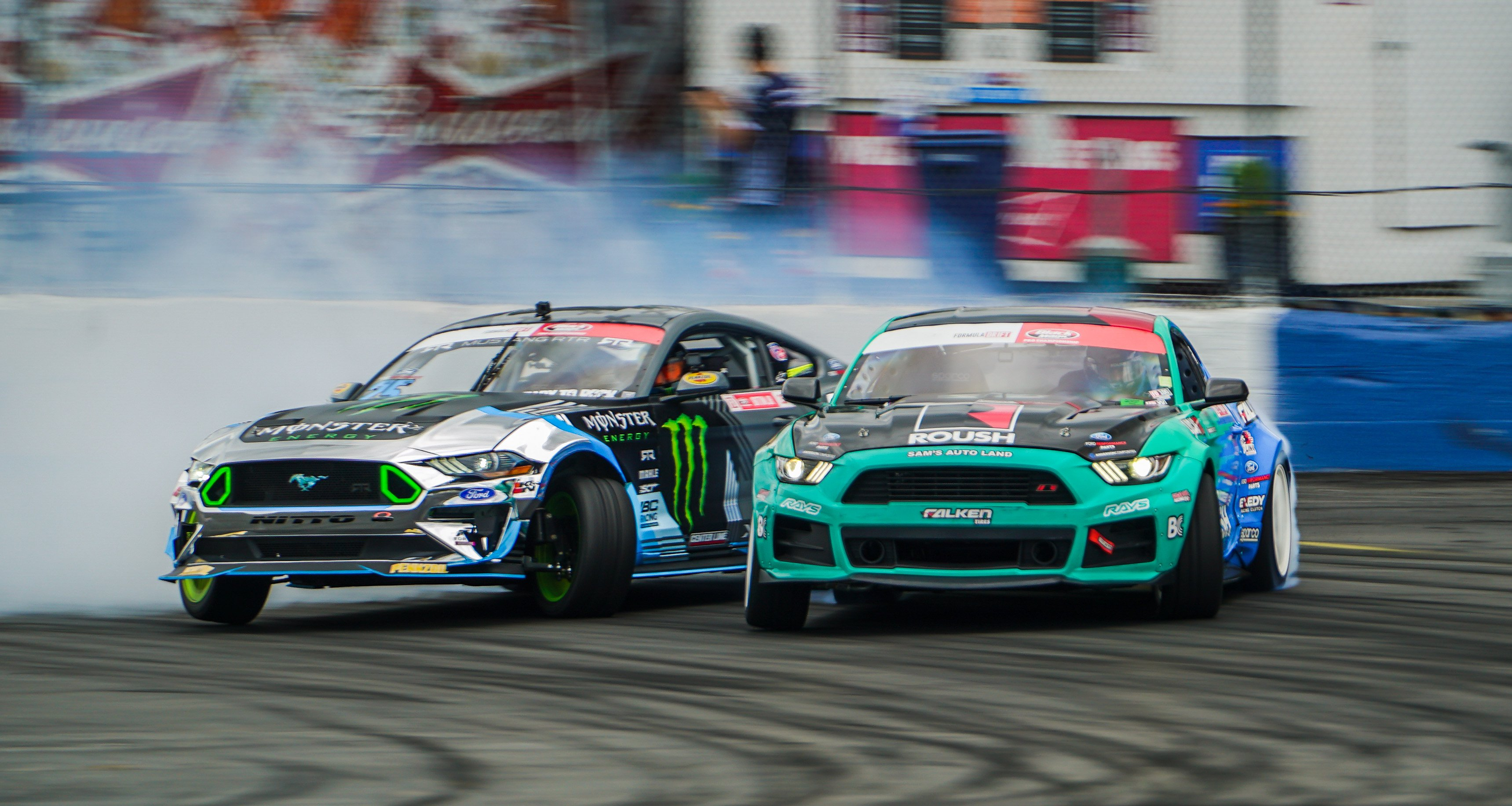 Justin Pawlak leads as Vaughn Gittin Jr. follows