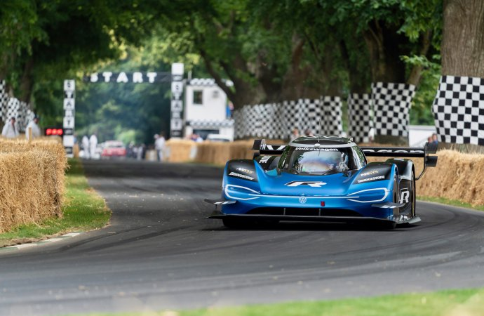 VW's electric racer sets all-time record at Goodwood