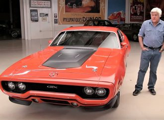 Jay Leno hosts Mopar muscle with Plymouth GTX in his garage