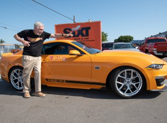 Talk about Hot Wheels! Larry Wood drives Route 66 in SIXT Shelby