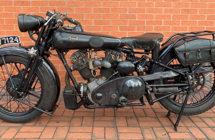 'Cosmetically aged' motorcycle tops British auction