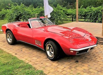 Red-on-red 1968 Corvette convertible restored to original