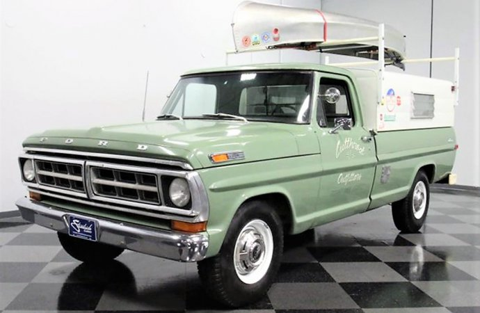 Adventure truck 1971 Ford F-250 comes with its own outdoors gear