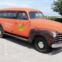 Here's a Chevy 'fat girl' to match your Harley 'fatboy'
