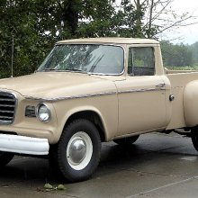 Innovative merger: 1960 Studebaker Champ pickup wears a Lark front end