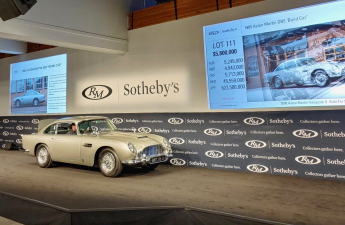 'Bond Car' tops first-day Monterey sales at $6.385 million