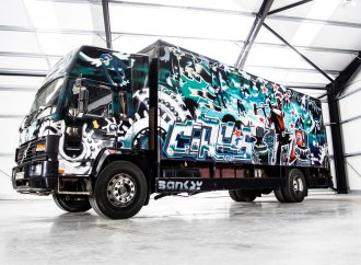 World's most expensive Volvo? Truck is rolling canvas for Banksy art
