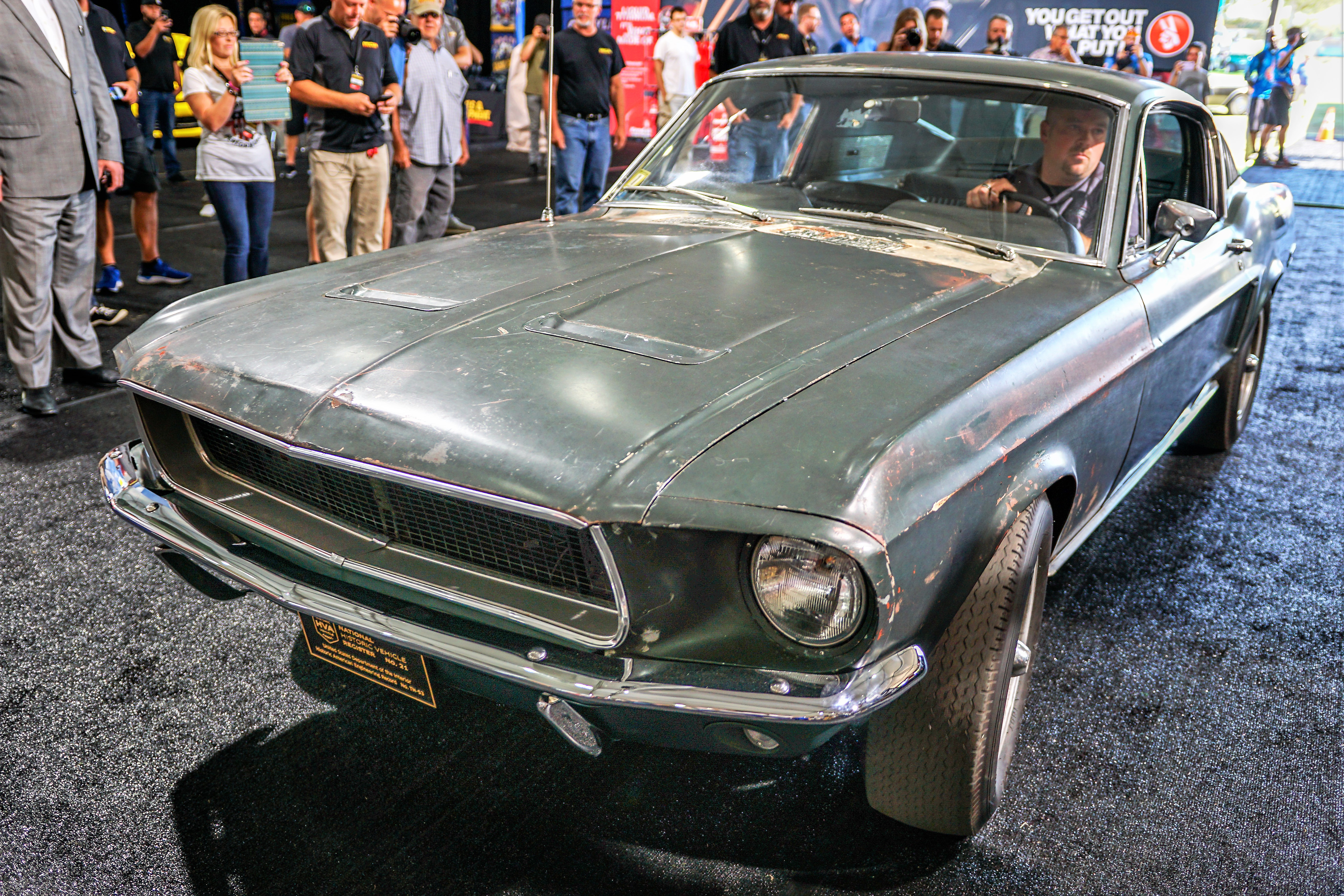 'Bullitt' Mustang GT movie car to be auctioned by Mecum at ...