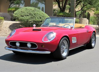 Faux Ferrari from 'Ferris Bueller' film is taken for a ride