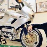 Giancarlo Morbidelli and the Morbidelli V8