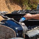 HVK2873-Steve Marini's 32 original Cadillac runs a little hot-Tour-Howard Koby photo