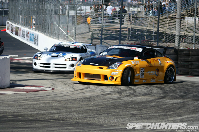 Tanner Foust at Formula Drifts round in Long Beach, CA | Speedhunters Larry Chen photo
