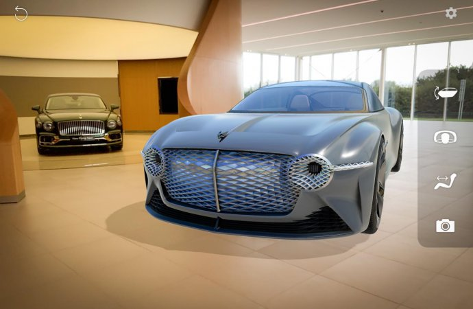 Bentley offers 'AR' view of its EXP 100 GT concept car