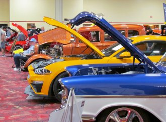 When the temp is triple digits, the car show moves indoors