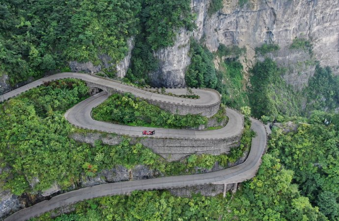 VW's electric racer sets another record, this time up Tianmen Mountain