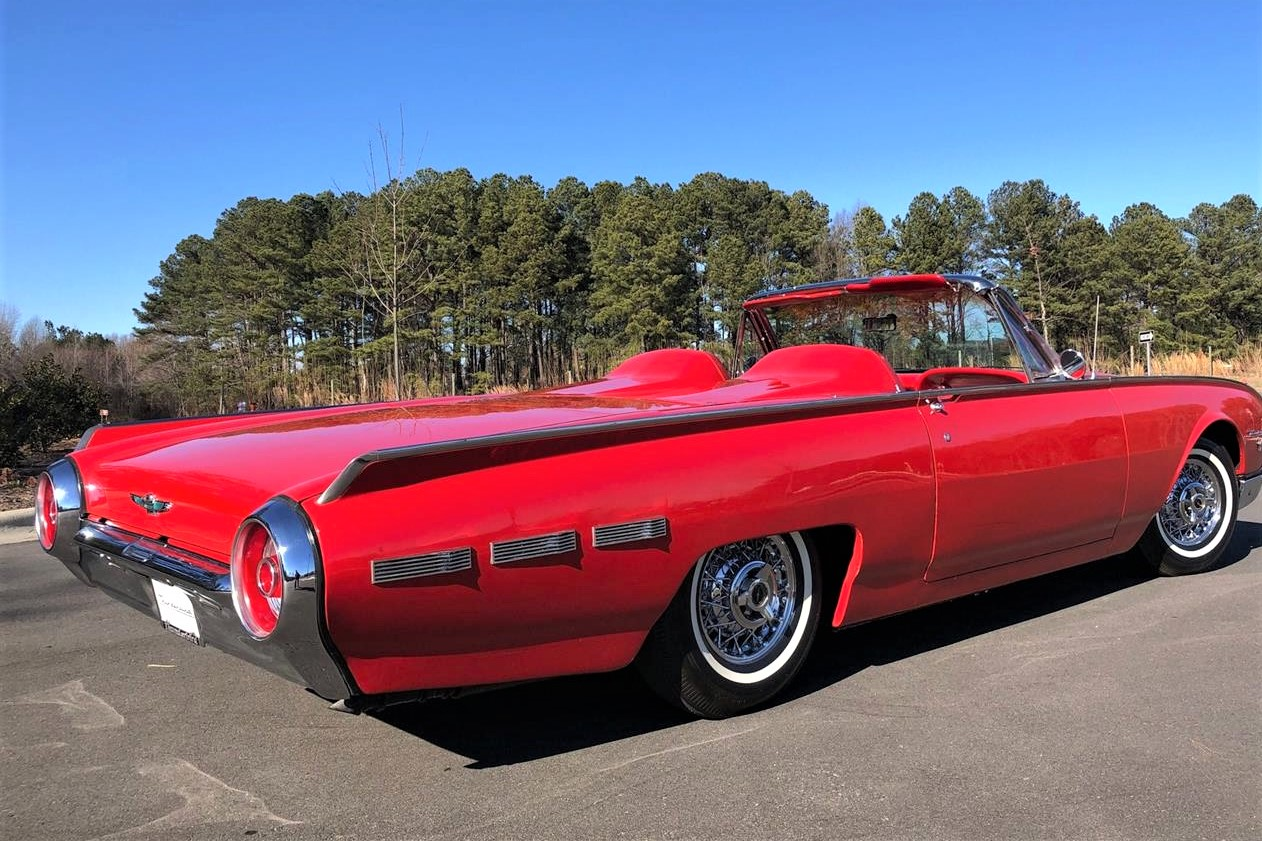 Long and low, 1962 Thunderbird Sports Roadster revived two-seater styling