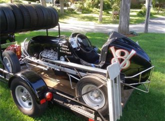 More than 70 years later, this midget-style racer awaits its first race