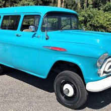 Beauty and brawn, 1957 Chevy Suburban with NAPCO 4-wheel-drive system