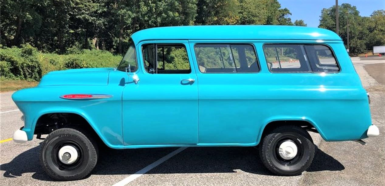 suburban, Beauty and brawn, 1957 Chevy Suburban with NAPCO 4-wheel-drive system, ClassicCars.com Journal