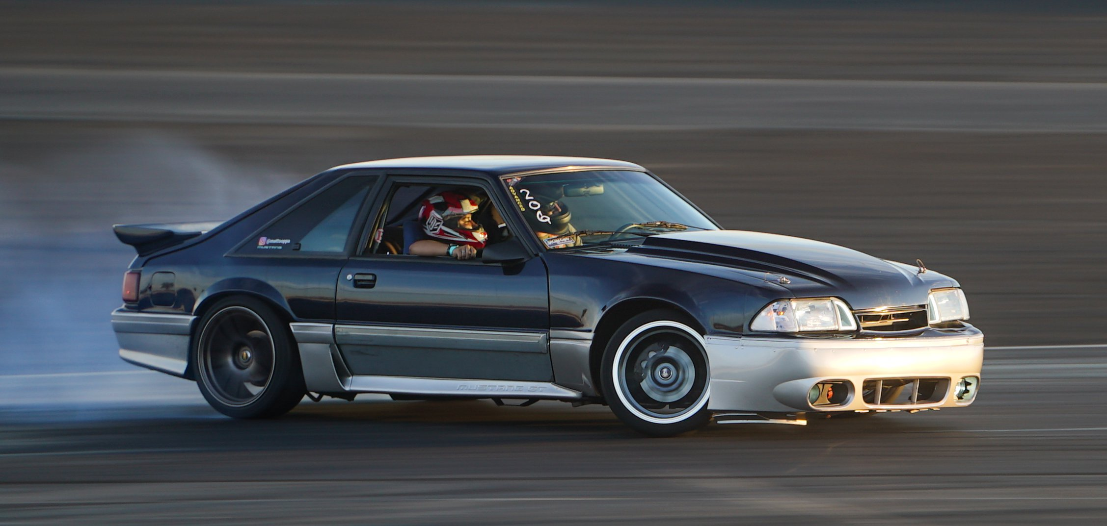 Fox-body Mustang with a Coyote engine