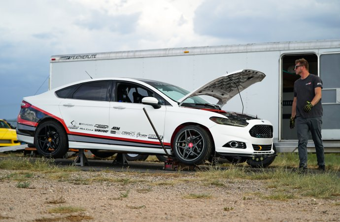 Four-door Mustang: Ford Fusion gets Coyote V8, RWD for drifting