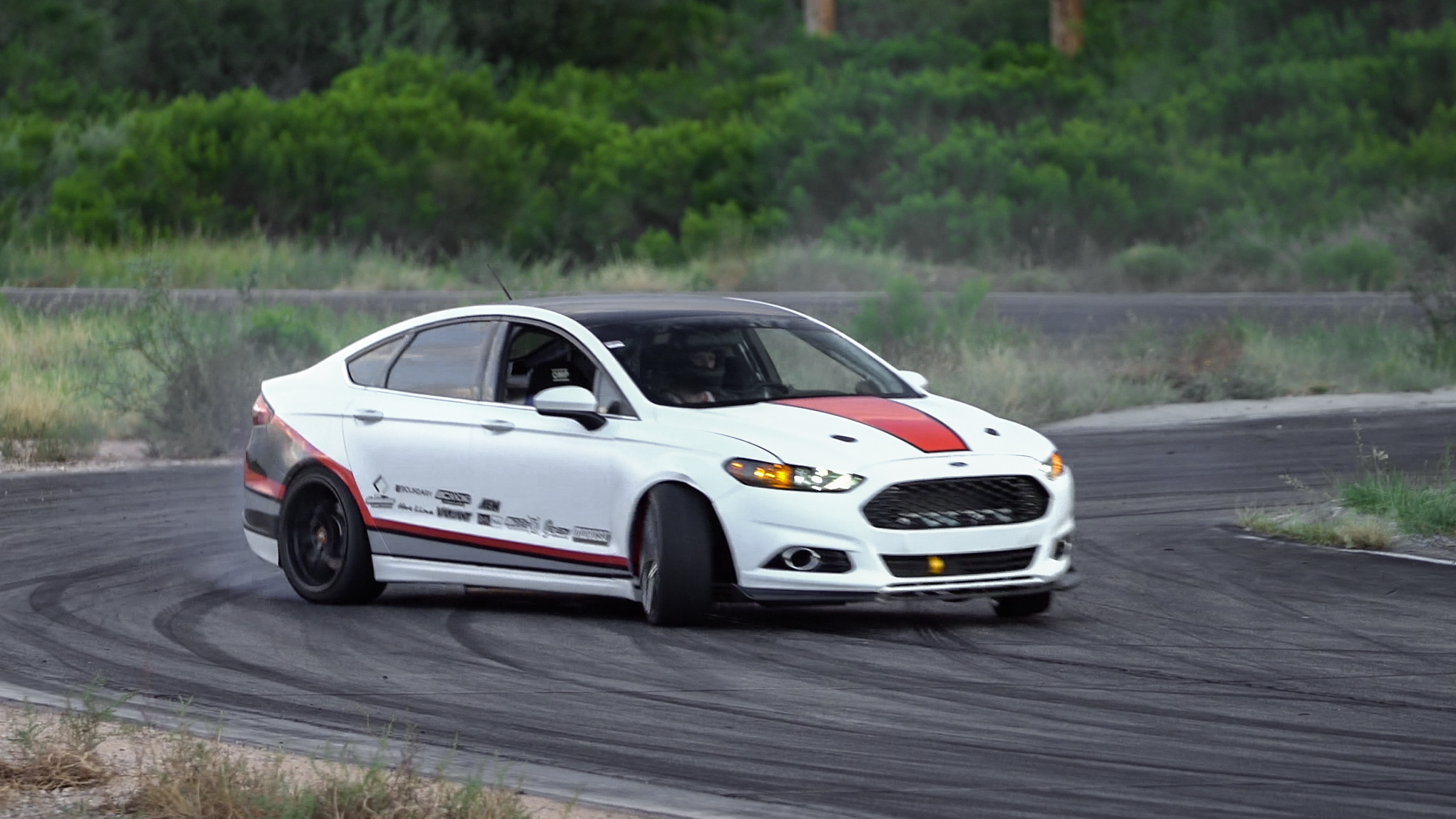 Coyote powered RWD Ford Fusion dubbed the four-door Mustang   Rebecca Nguyen photos
