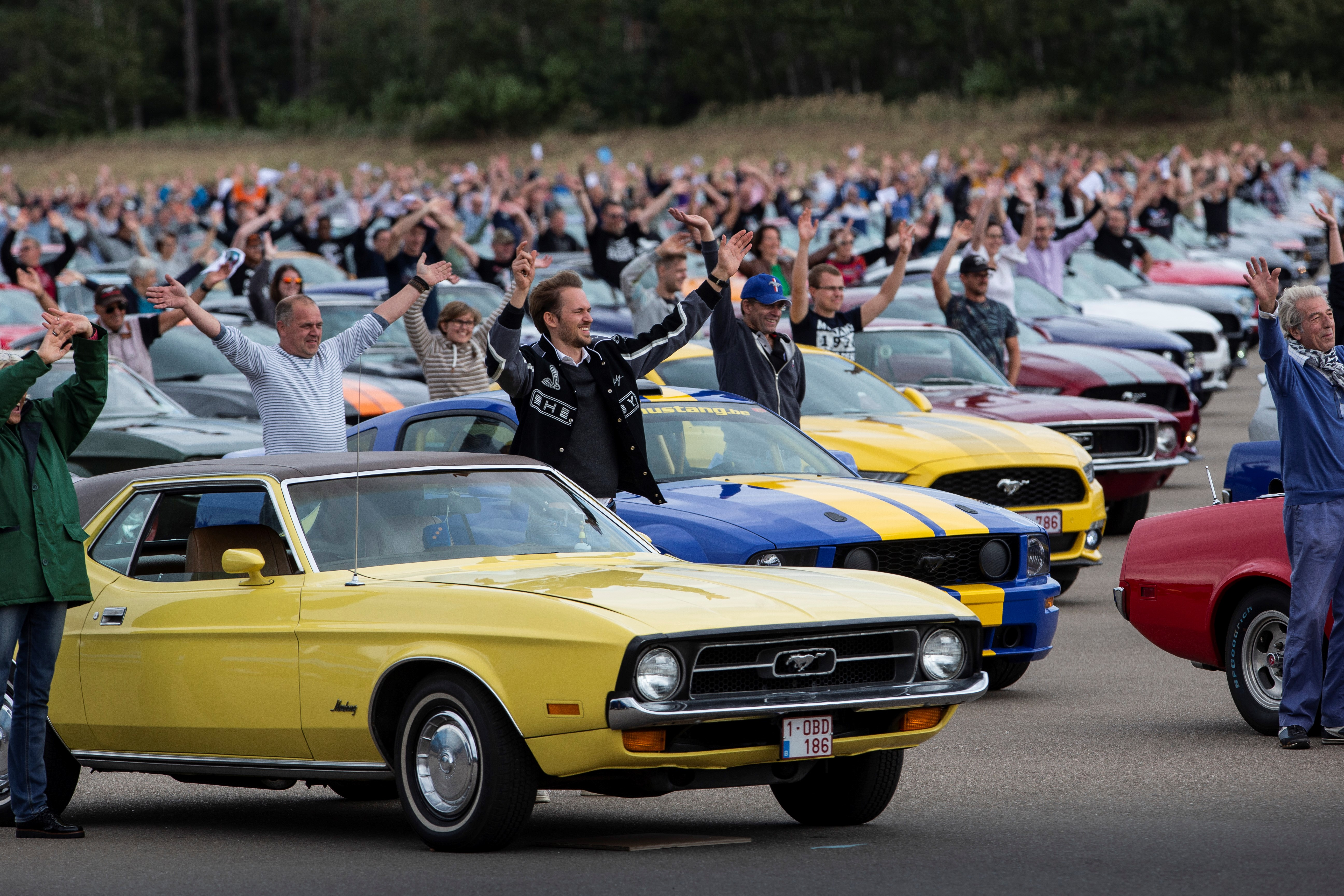 Ford Europe claims record for most Mustangs in one place