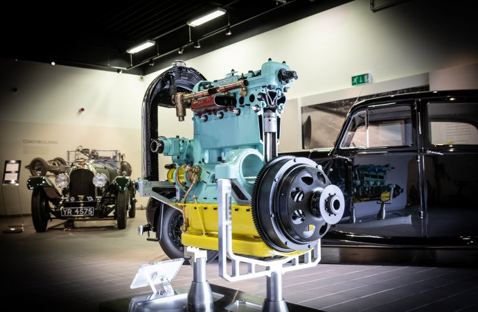 Bentley apprentices bring Engine 212 back to life