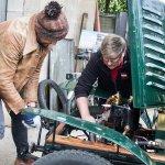 Fuzz Townshend with Senior Engineer Ian Stanfield