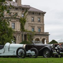 Gatsbyan setting greets inaugural Newport concours