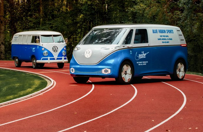 VW, Nike revive history with a new Blue Ribbon Sports van