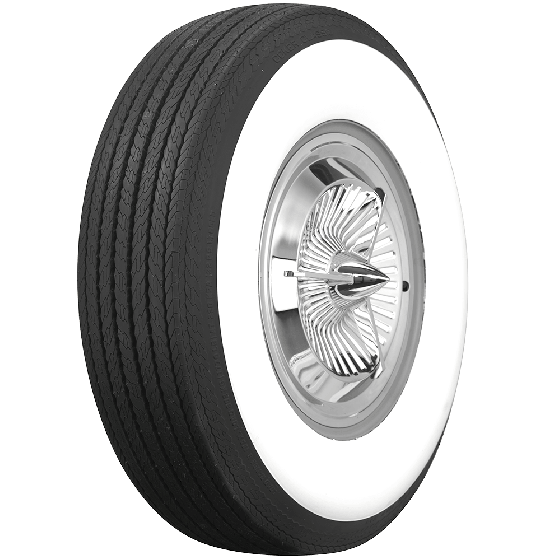 Coker Tire displays fresh tires on a beautiful classic